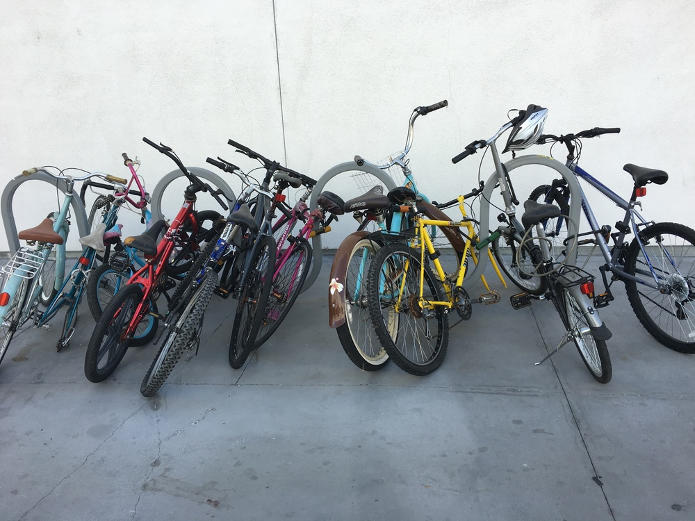 Happy One Santa Fe has bike racks, but guys, a few more please!