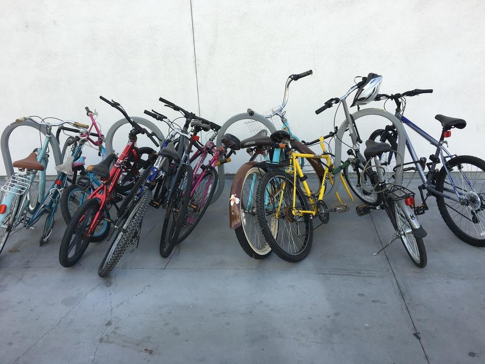 Happy  One Santa Fe  has bike racks, but guys, a few more please!