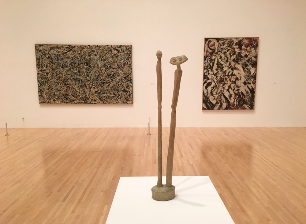 Pollock, Ernst, and Krasner, a gorgeous view when entering the room.