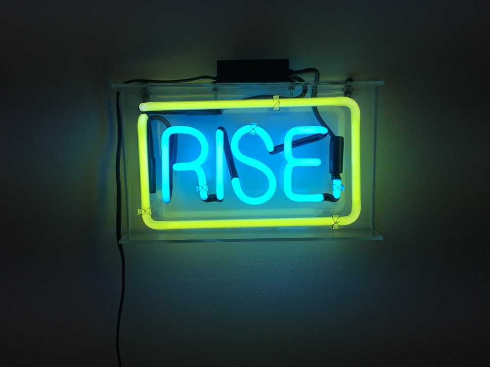 Object of my desire, Patrick Martinez' RISE neon work.
