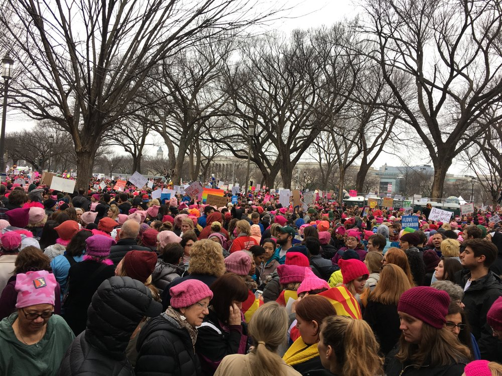 There were so many of us, for the first few hours it was a rally—we couldn't move to actually march.