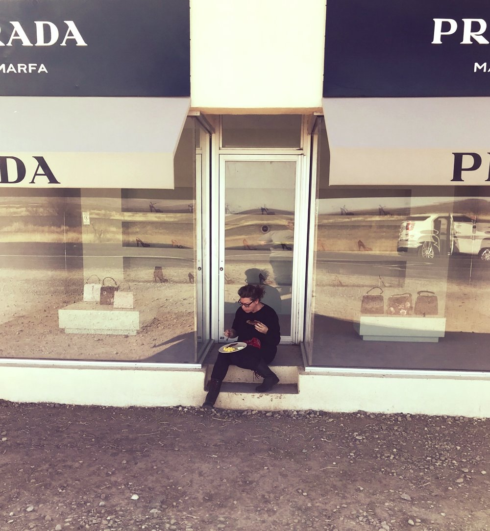 Prada Marfa breakfast