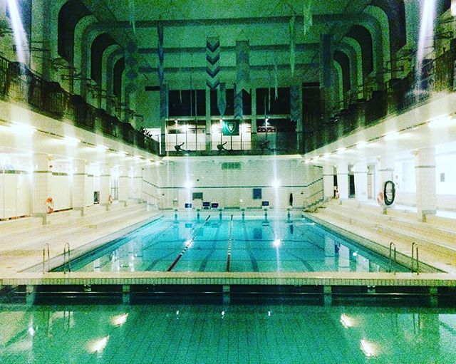 Like a scene from The Grand Budapest Hotel.  #wesanderson #grandbudapesthotel #stockholm #sweden #travel #arabianbaths #wwwad #whatwouldwesandersondo #analogsupplyco