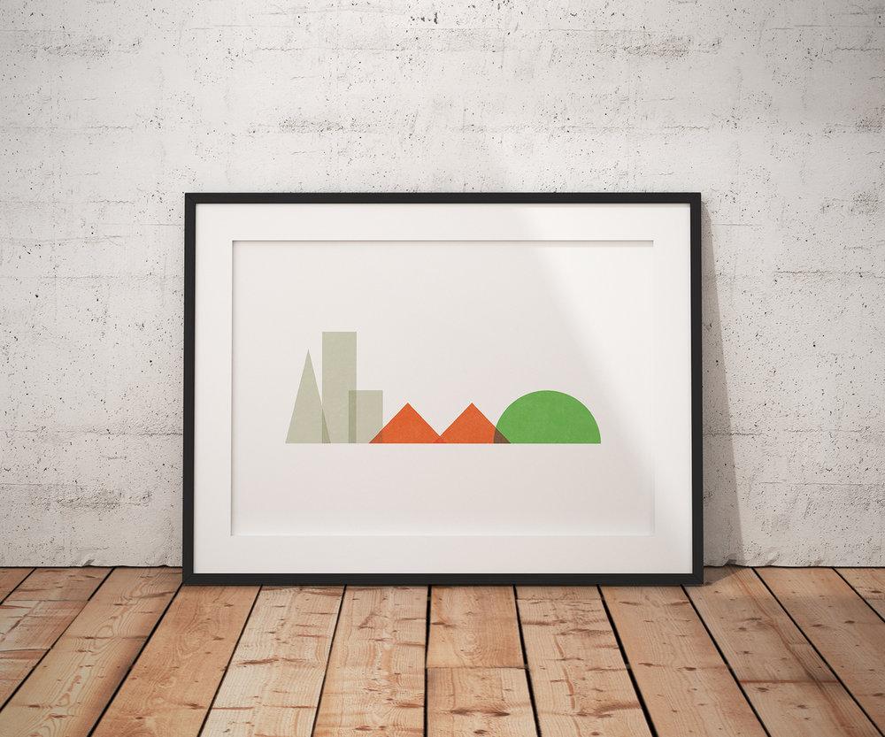 Minimalist San Francisco Art Print — Analog.