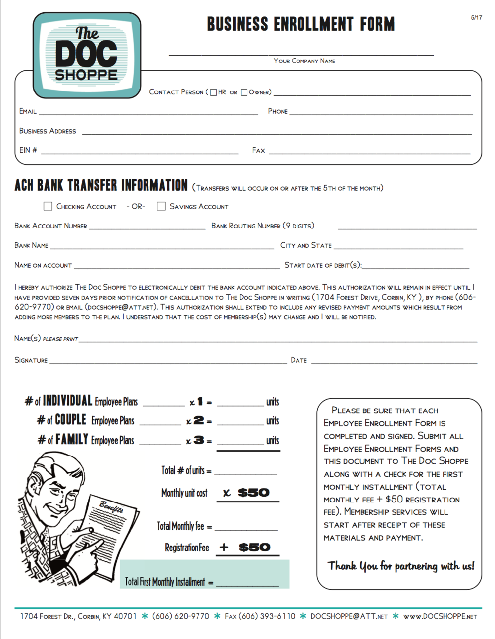 Business Enrollment Form