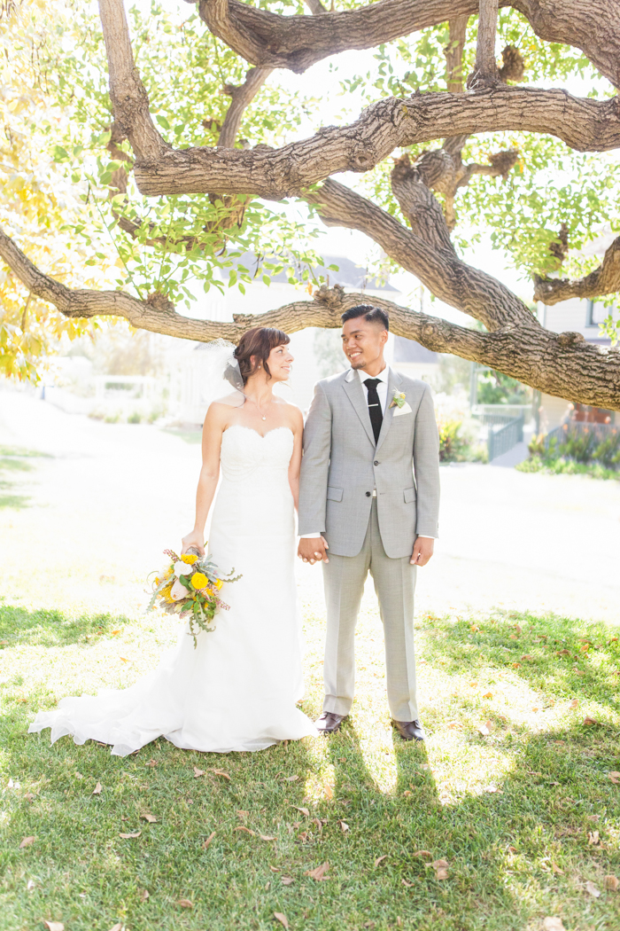 bride and groom at heritage square museum los angeles - shaun and skyla walton