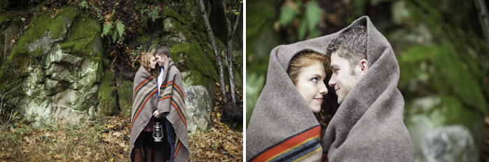 jeremy roloff and audrey botti in pendleton blanket