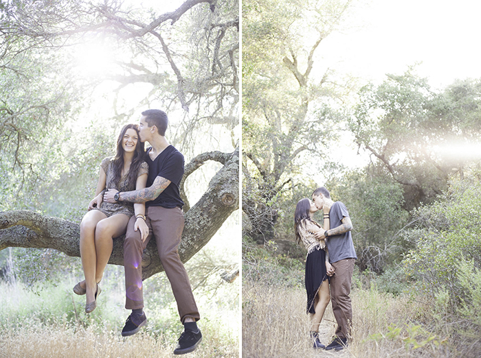 Hiring your wedding photographer- hipster engagement session in nature santa barbara california