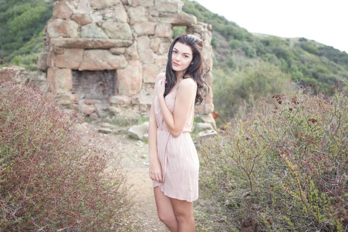 natural outdoor boudoir session knapps castle santa barbara california