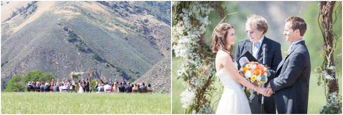 rustic outdoor farm wedding