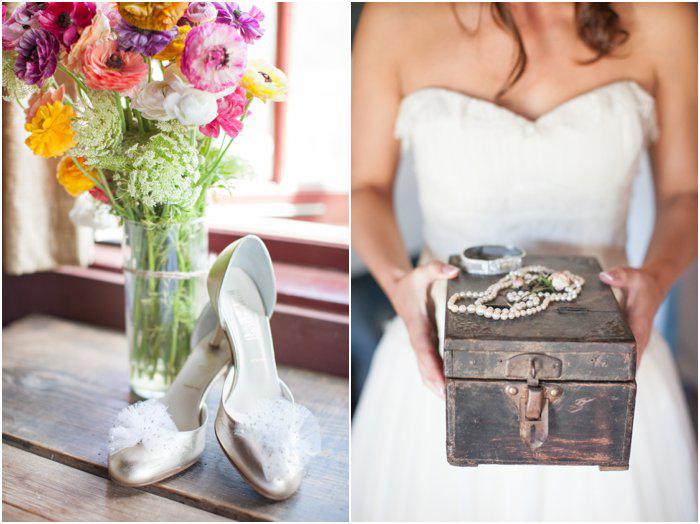 rustic bridal details