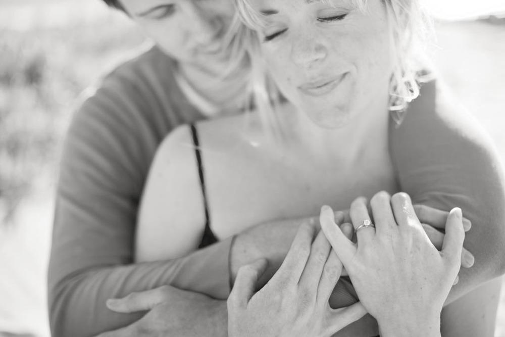 blak and white Engagement photo by San Luis Obispo Wedding photographer Skyla Walton