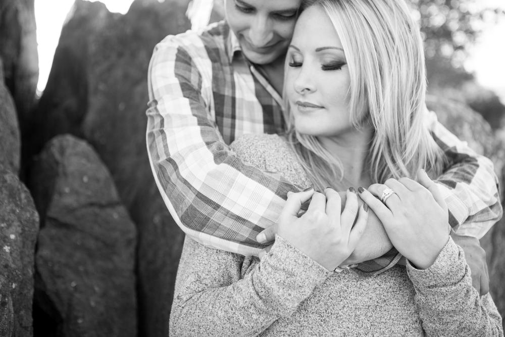 edgy black and white Engagement photo by San Luis Obispo Wedding photographer Skyla Walton