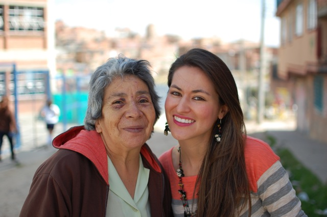 "Two generations of ""Colombian Girls""...we spent the morning with ""Mori,"" one of the Colombian women artisans that helps produce our collection.  Over the next few weeks, we will help you get to know Mori better, as well as several of the other women artisans, that dedicate themselves to producing works of art through jewelry!"
