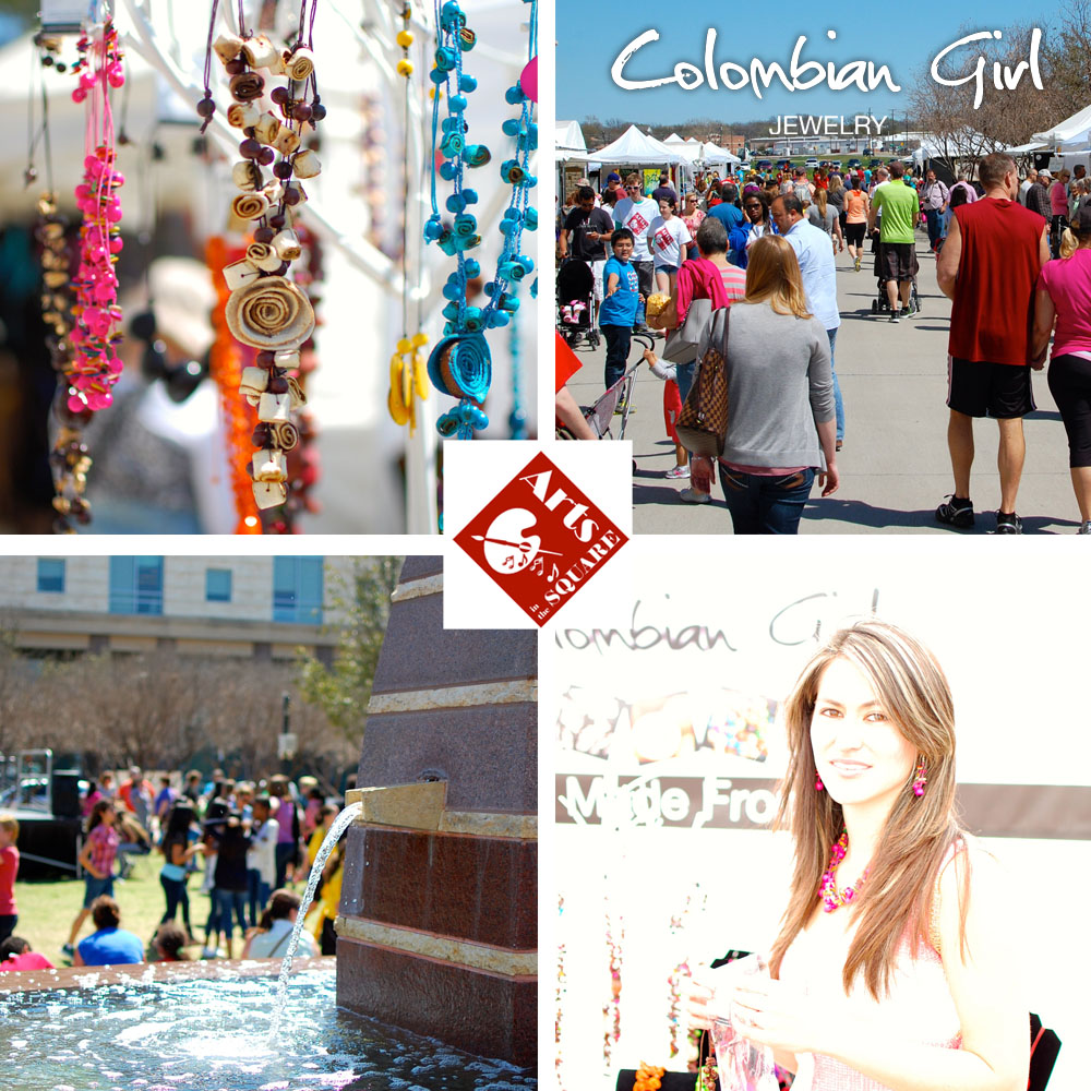 "Featured images from Saturday's ""Arts in the Square"" including our very own Colombian model, on scene!"