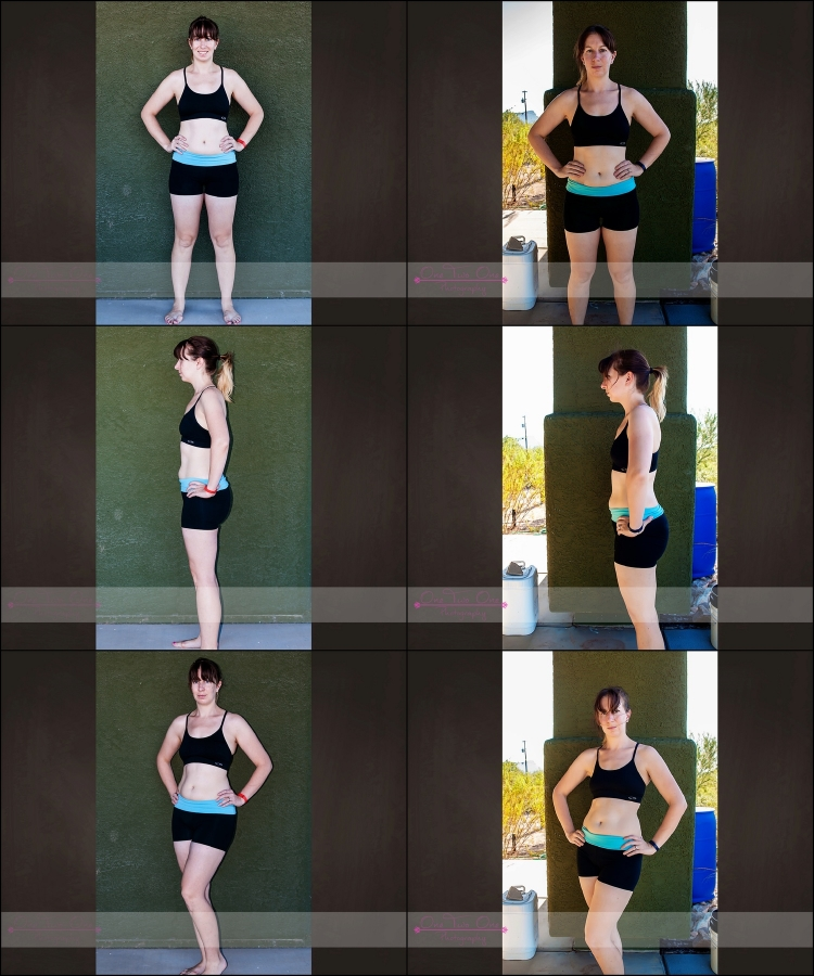"21 Day Fix - Before (L) After (R) - See what I mean?  Where did those 6"" come from?"