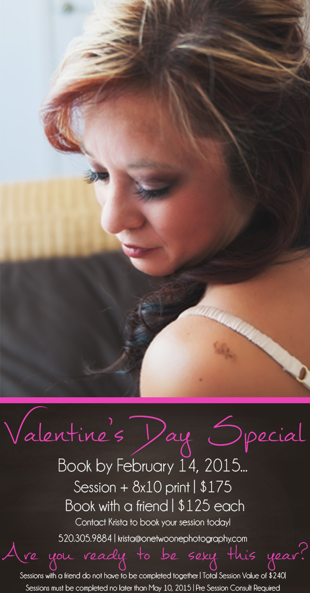 Tucson Boudoir Photography Valentines Special