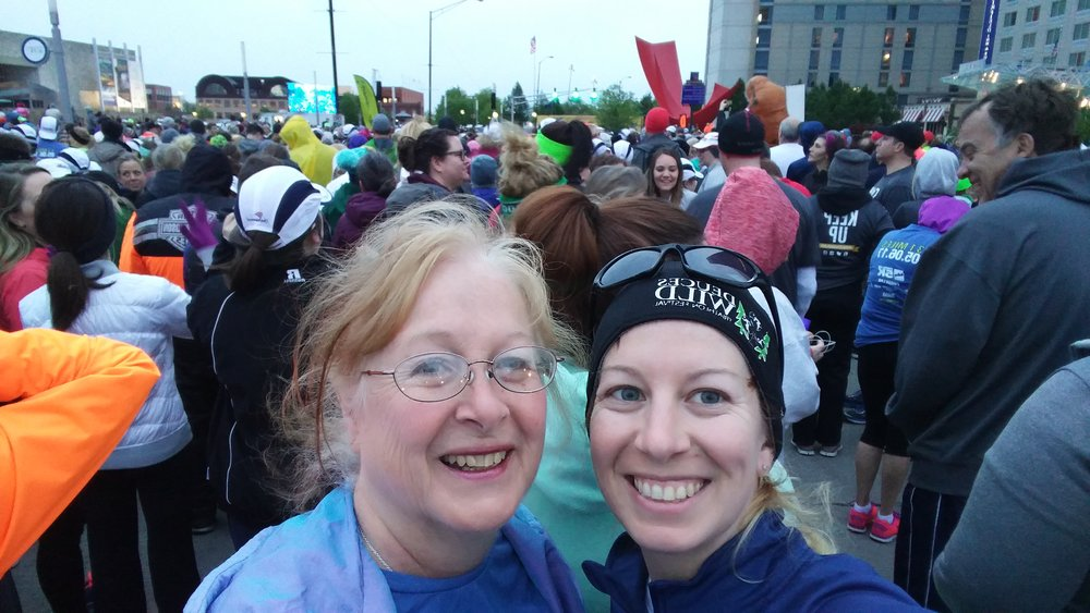 Mom & I at the 5K start!