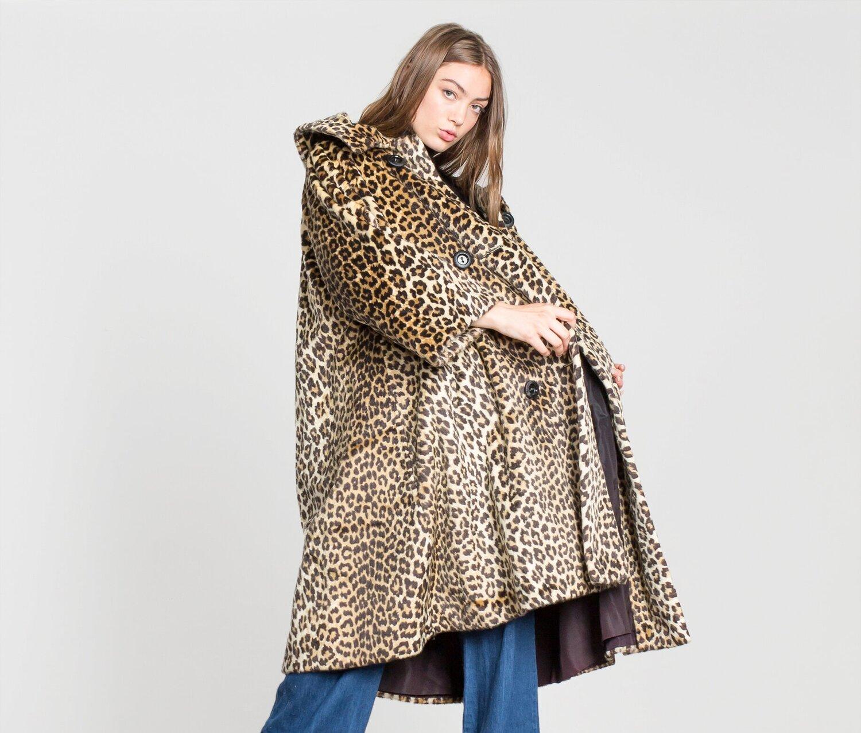 60/'s Faux Leopard Jacket