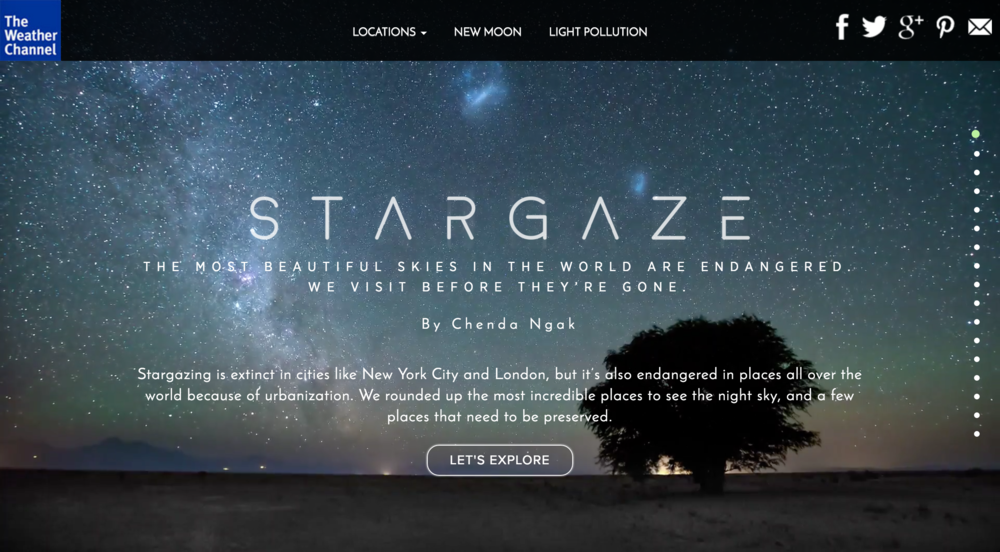Interactive Longform Feature -  Stargaze