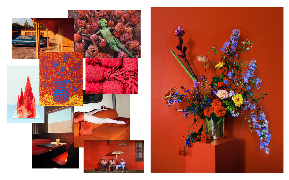 Images from: William Eggleston • Steve McCurry • David Abrahams • Yayoi Kusama • Guy Bourdin • Spike Lee