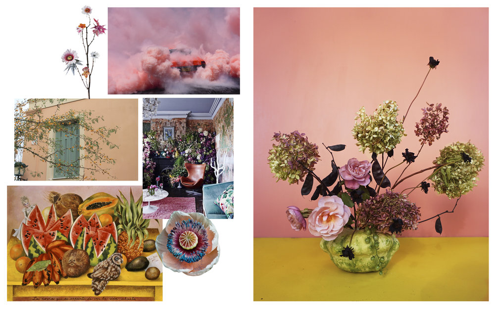 Flowers: Roses, Hydrangea, Hyacinth Bean, Cosmos Images from: Anne Ten Donkelaar • Simon Davidson • Tumblr • Vogue Living • Frida Kahlo   *Please contact our studio email should any images be insufficiently credited or not honoring any existing copyrights.