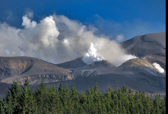 Smoking vent on Mt Tongariro, New Zealand