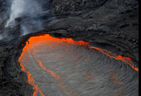 Kilauea lava flow, Hawaii