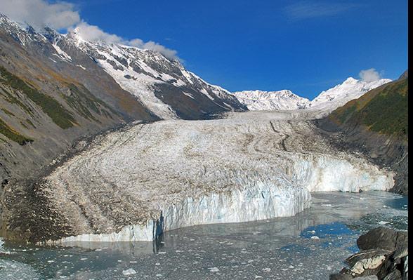 Glacier at Chugach Mountains, Alaska