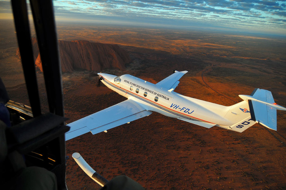 Shooting a Pilatus PC12 over Uluru, Northern Territory, Australia