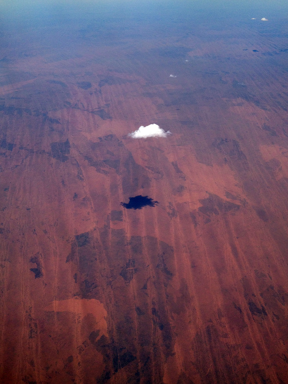 The lone cloud, Western Australia