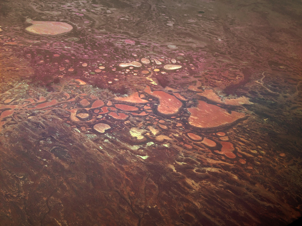 Salt lakes from 35'000 feet