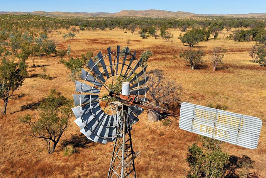 Southern Cross windmill, Kimberley, WA