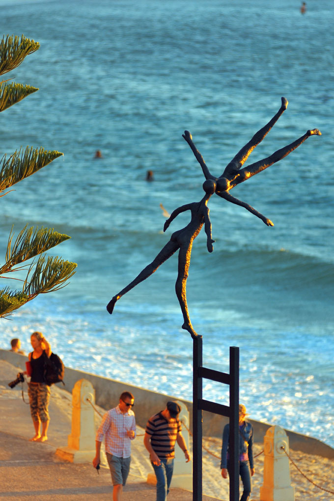 Sculpture on the beach exhibit