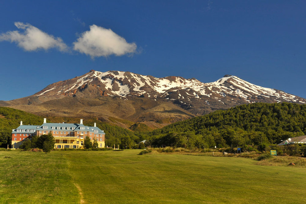 Mt Ruapehu and the Chateau Tongariro