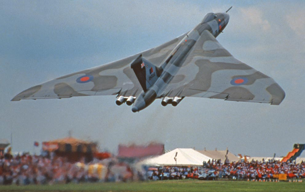 Avro Vulcan lifting off
