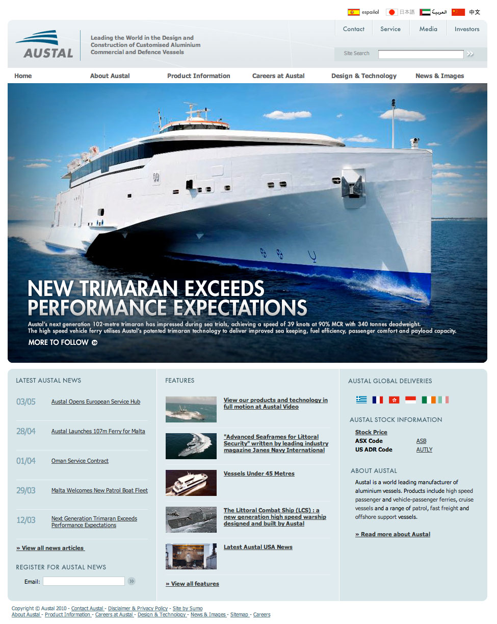 Austal ships website