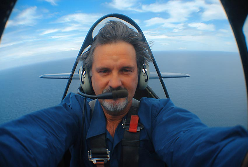 Self portrait in a T6 Texan, 2003
