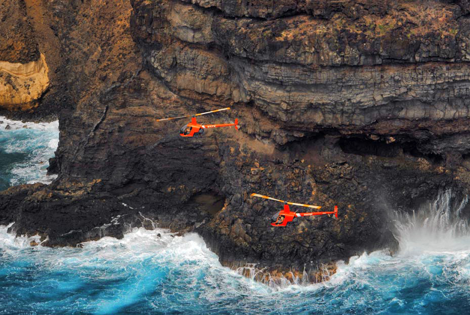 Two Robinson R22 Beta II's over Hawaii