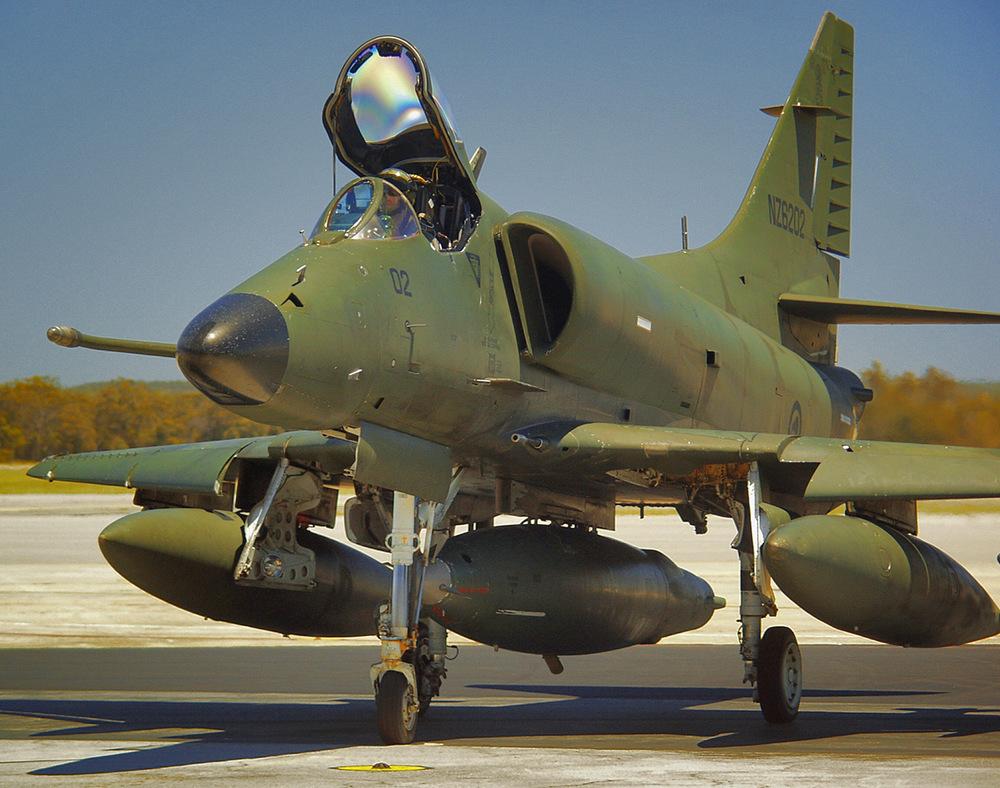 RNZAF A4 Skyhawk on its last sortie, RAAF Pearce, Western Australia