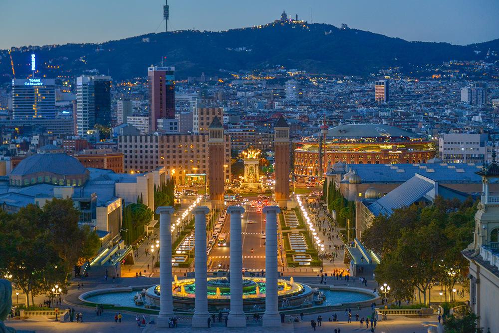 The Venetian Towers in Plaça d'Espanya, Barcelona