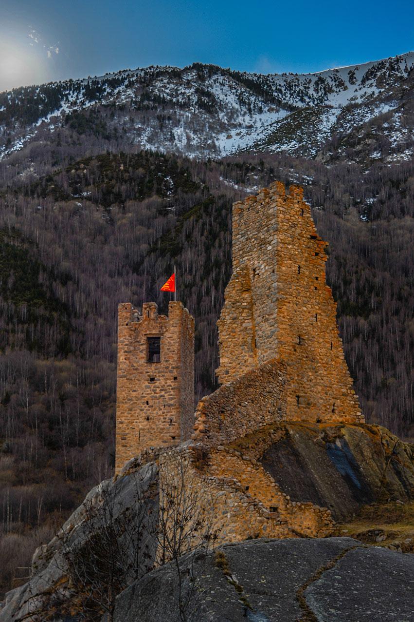 The ruins of Carol Castle, near Latour de Carol