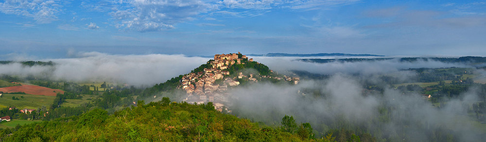 Dawn over Cordes sur Ciel