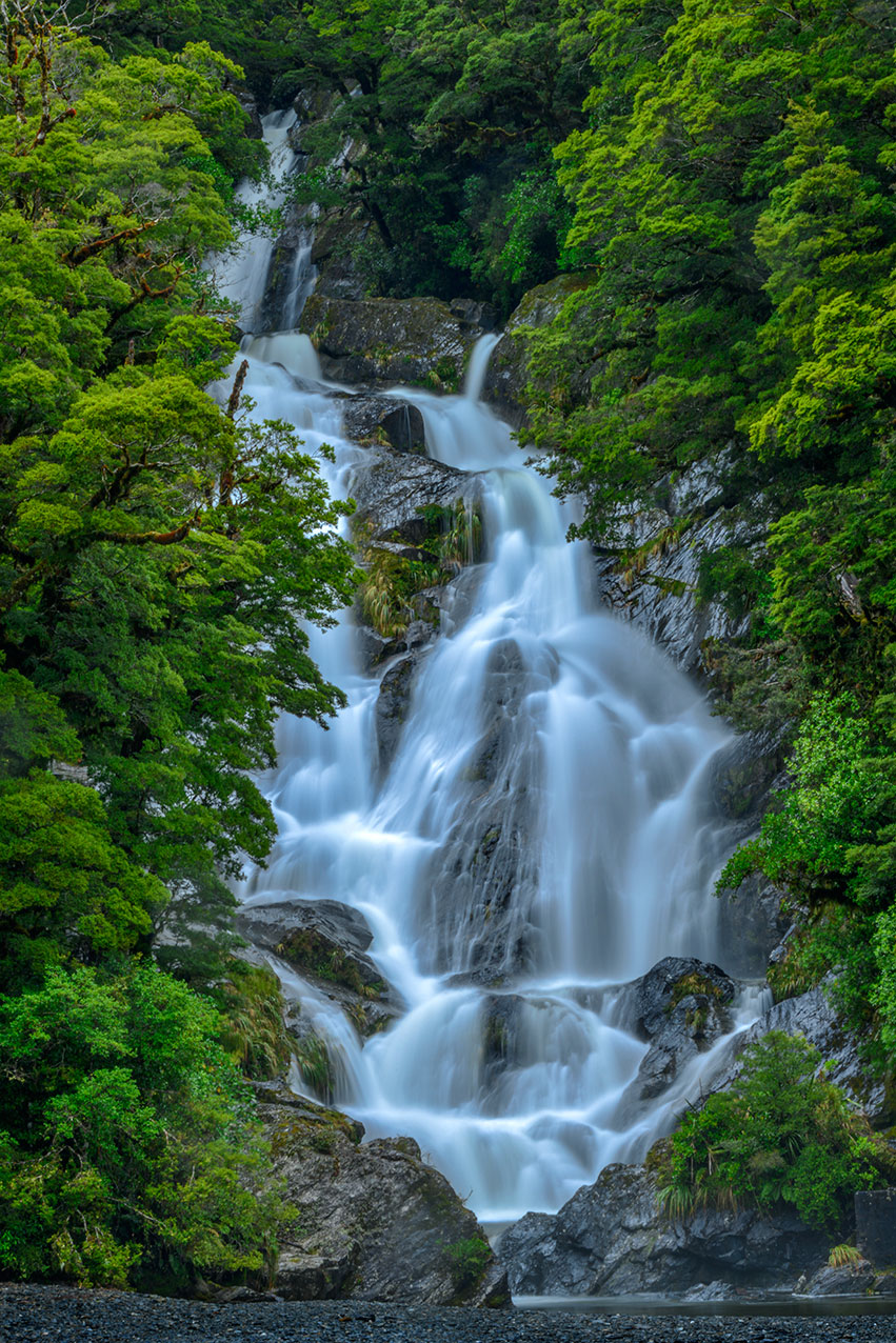 Fantail Falls, Haast River, Westland