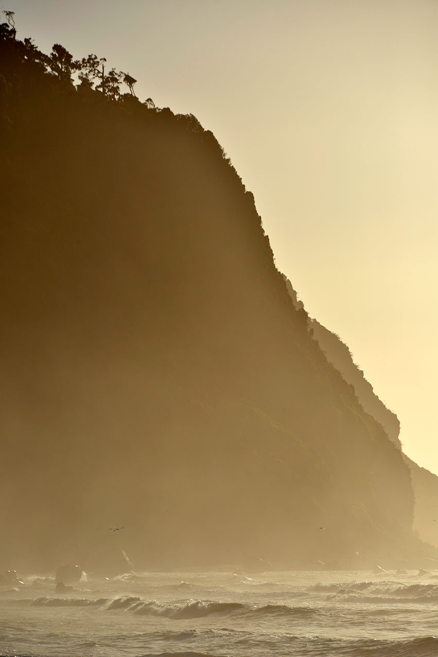Cliff at Okarito Beach, Okarito