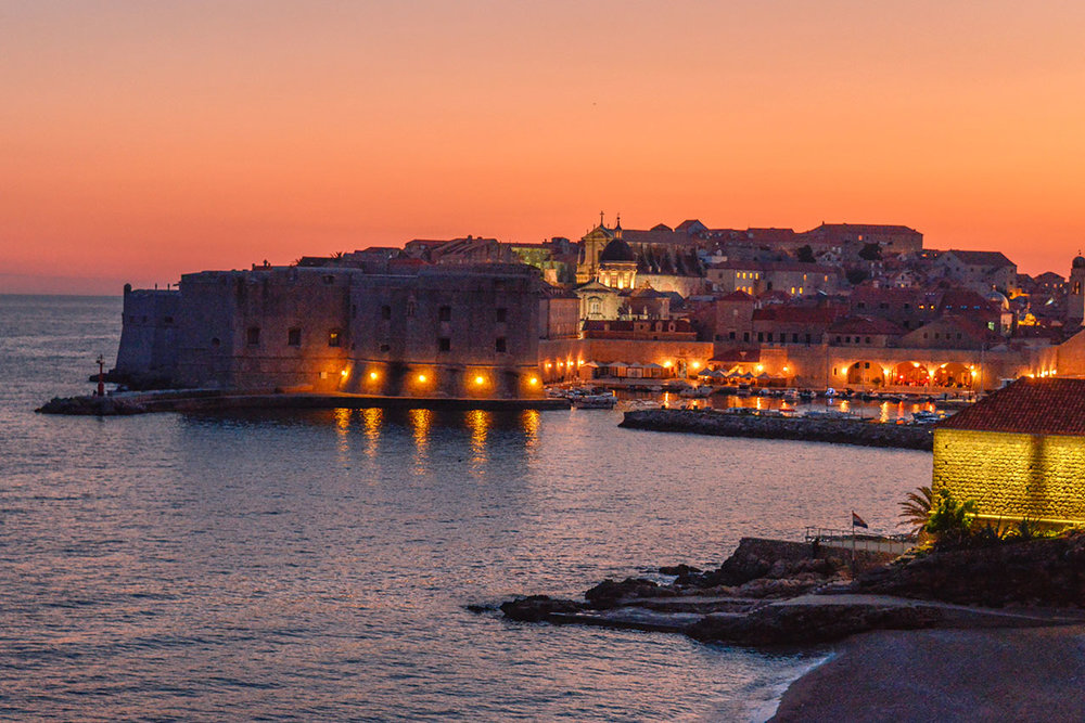 Dubrovnik at sunset