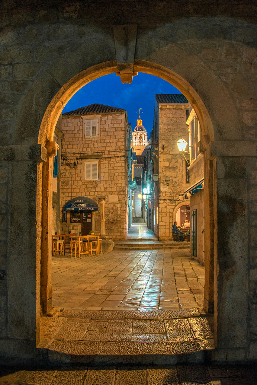 Main entrance to old Korcula