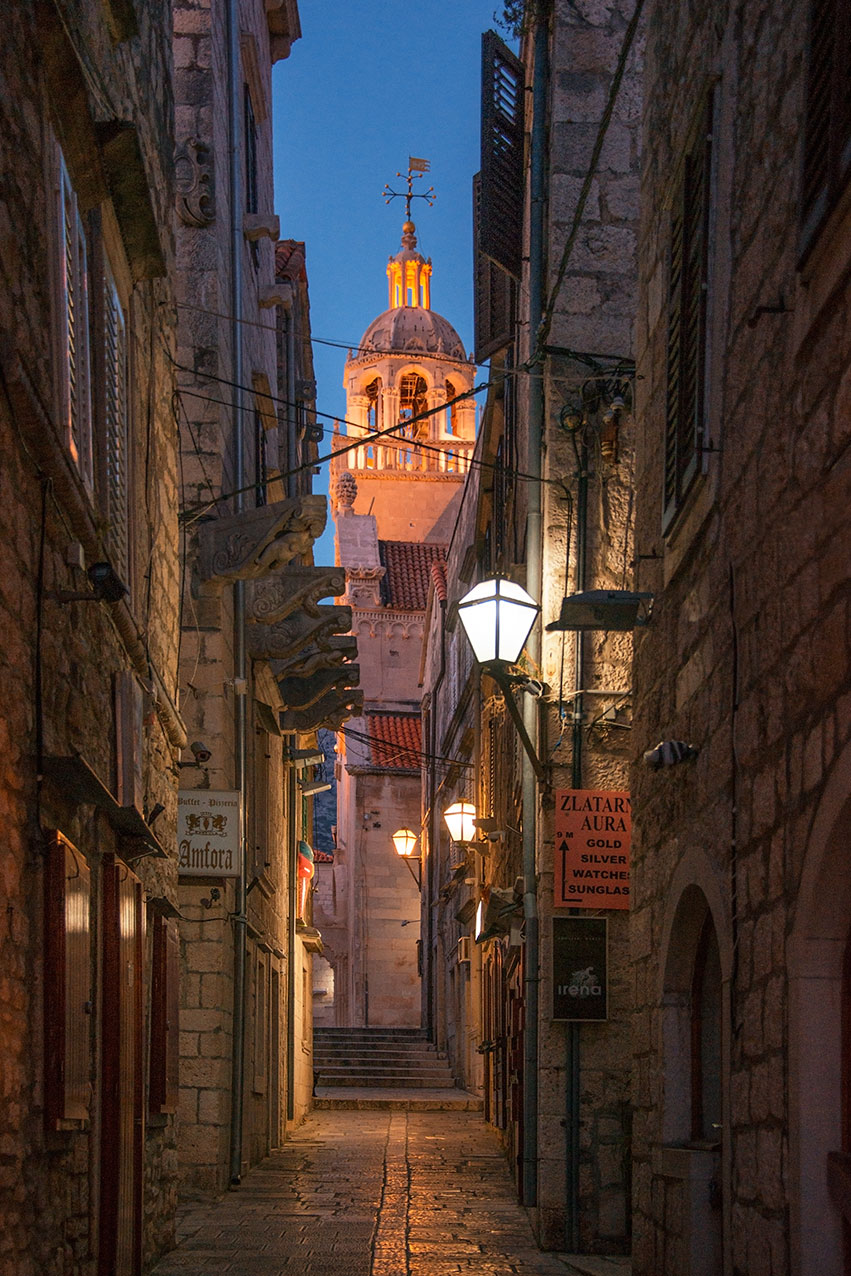 The alleys of Korcula