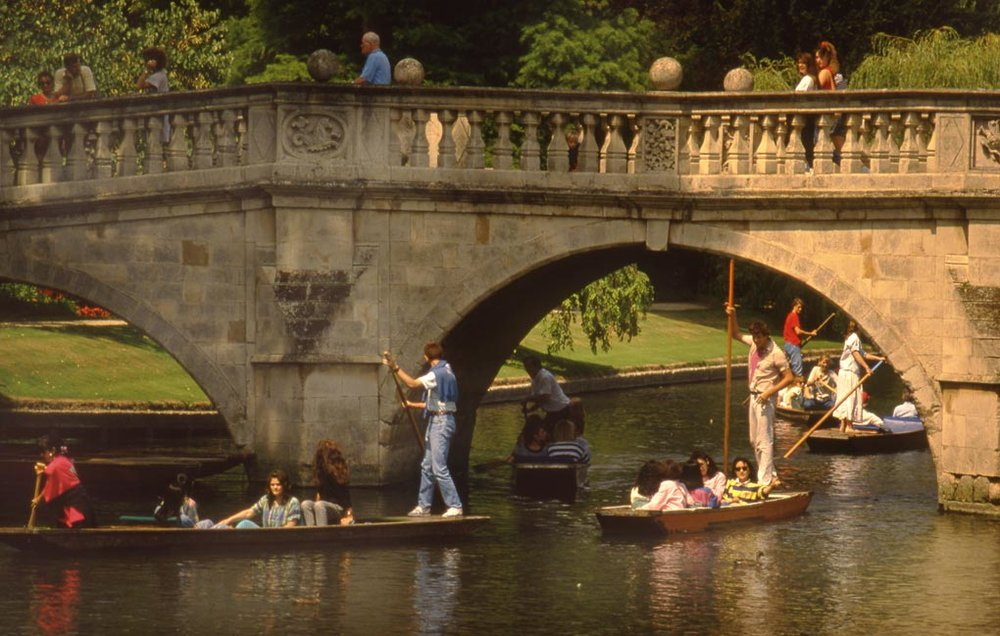 Punting on the River Cam, Cambridge.