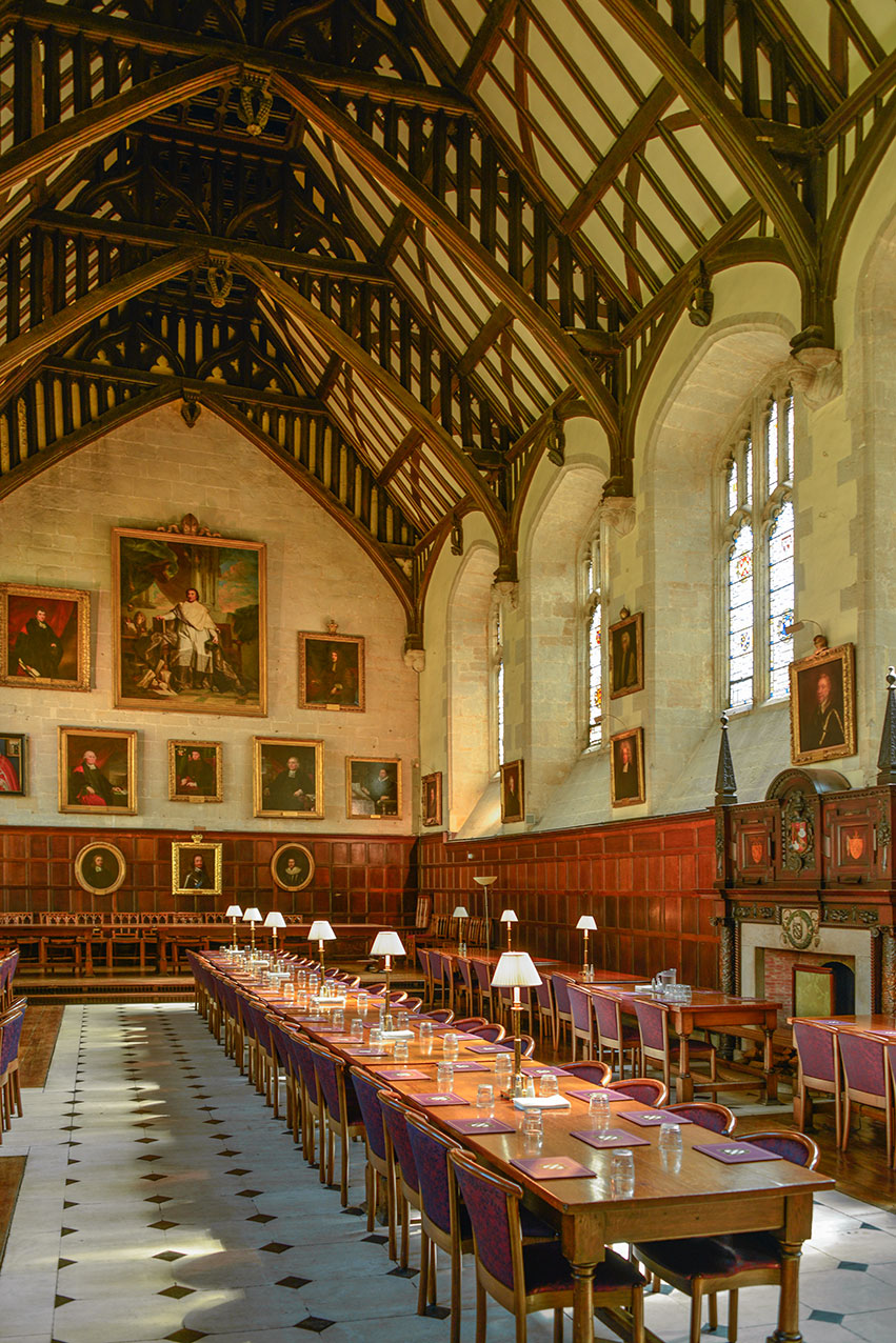 Oxford college refectory